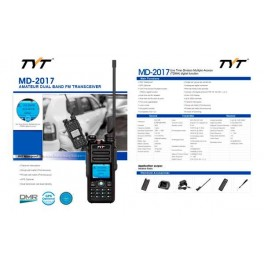 TYT-MD-2017 Walkie Talkie DMR, VHF/UHF, Analogico y Digital