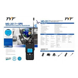 MD-2017GPS TYT Walkie Talkie DMR, Doble banda 144/ 430 Mhz + GPS