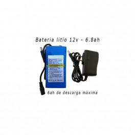 Bateria Litio Recargable 12v /6.8ah/ 6ah