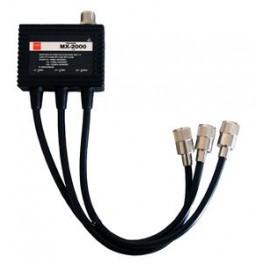 Diamond MX-2000 - TRIPLEXOR 50-144-430 MHZ. CON CABLES, CONECTORES PL (50-144) Y N (430)