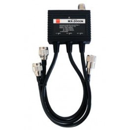 Diamond MX-3000-N - TRIPLEXOR 144-430-1200 MHZ. CON CABLES, CONECTORES PL (144) Y N (430-1200).