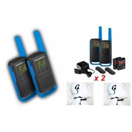 TLKRT62BLUE MOTOROLA pareja de walkies uso libre PMR446 color azul