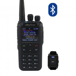 AT-D878UV PLUS - TRANSCEPTOR PORTÁTIL DMR PARA RADIOAFICIONADOS 144 / 430 MHZ. CON BLUETOOTH