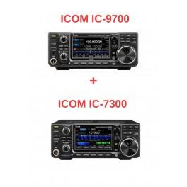 COMBO ICOM IC-9700 + ICOM 7300