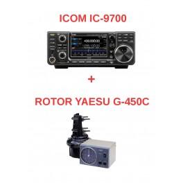 COMBO VHF-UHF-SHF ICOM 9700 + ROTOR YAESU G-450C