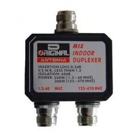 DX-CF-530-A - DUPLEXOR 1.3-60 MHZ. / 125-470 MHZ., CONECTORES TIPO N, VERSIÓN SIN CABLES.