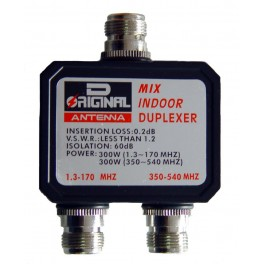DX-CF-416-A - DUPLEXOR 1.3-170 MHZ. / 350-540 MHZ., CONECTORES TIPO N, VERSIÓN SIN CABLES.