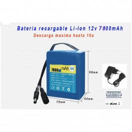 Bateria 12v 7800mAh Li-ion alta capacidad recargable