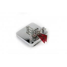 MFJ564 Llave tipo paleta telegráfica MFJ manipulador de MORSE cromado