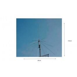 FALKOS D-130 Antena tipo Discono para escaner 25 a1.300 Mhz Conector N