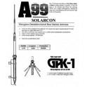 A-99 - ANTENA BASE VERTICAL CB DE 26-31 MHZ., FIBRA DE VIDRIO.