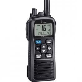 IC-M73 Walkie Marino VHF proteccion IPX8, Cancelador ruido+Grabación